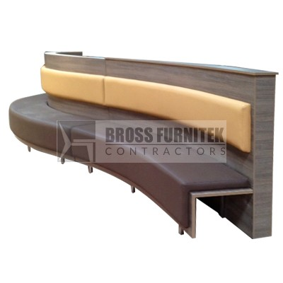Booth with partition